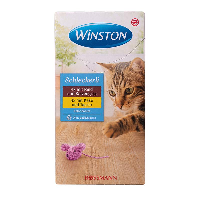 عکس بسته بندی بستنی گربه وینستون مدل LiverSausage & Cheese بسته 8 عددی