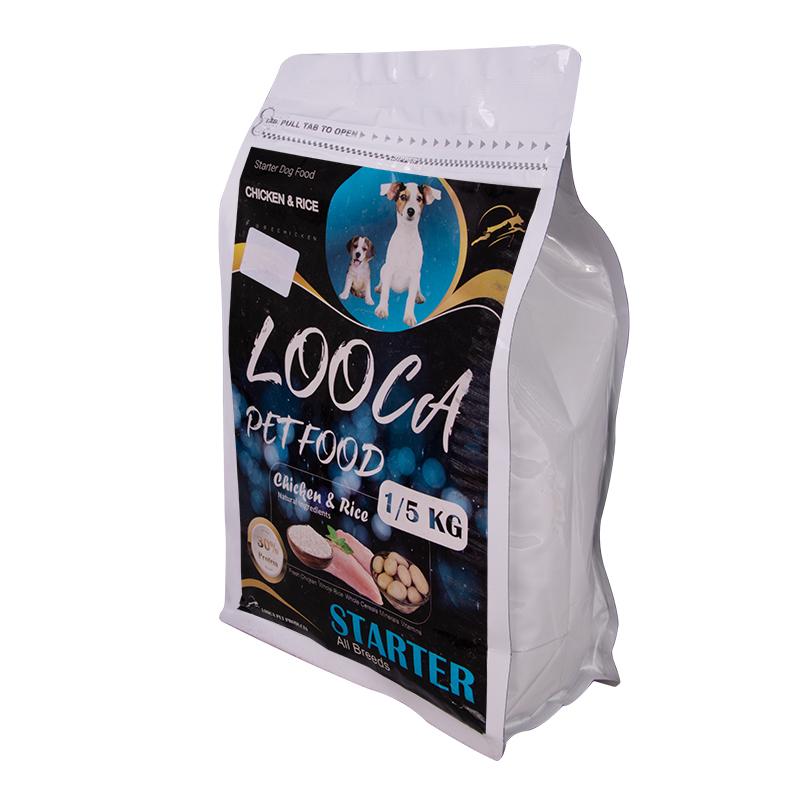 عکس جزییات بسته بندی غذای خشک سگ لوکا مدل Starter Chicken & Rice وزن 1.5 کیلوگرم