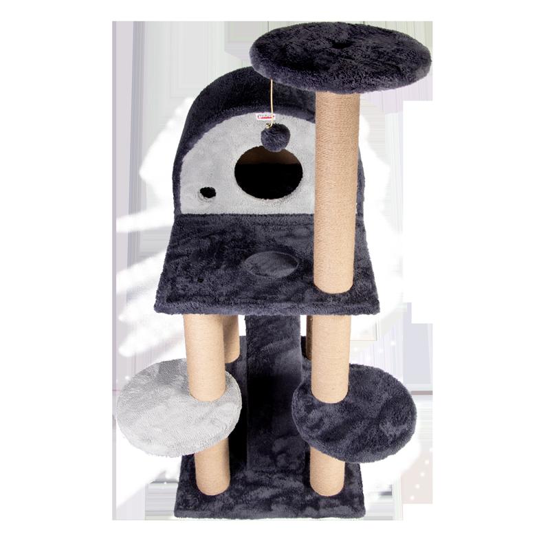 عکس از نمای کلی اسکرچر ، لانه ، جای خواب و درخت کدیپک مدل توسکا رنگ طوسی