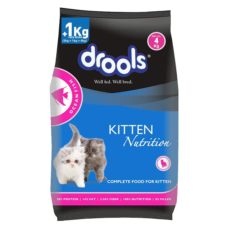 عکس بسته بندی غذای خشک گربه درولز مدل Kitten Ocean Fish وزن 4 کیلوگرم