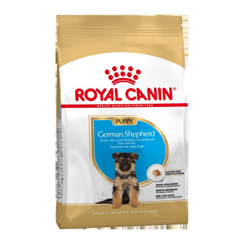عکس بسته بندی غذای خشک توله سگ رویال کنین مدل German Shepherd Puppy وزن 3 کیلوگرم