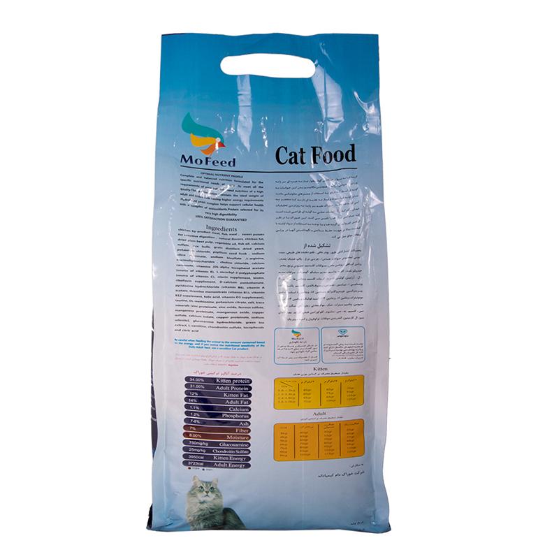 عکس پشت بسته بندی غذای خشک گربه مفید مدل Adult Daily وزن 2 کیلوگرم