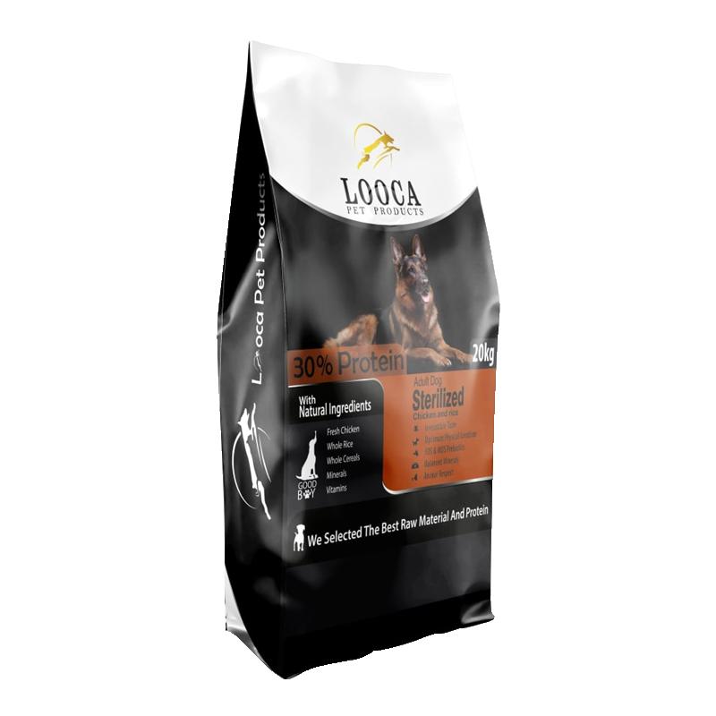 عکس روی بسته بندی غذای خشک سگ لوکا مدل Sterilized وزن 2 کیلوگرم