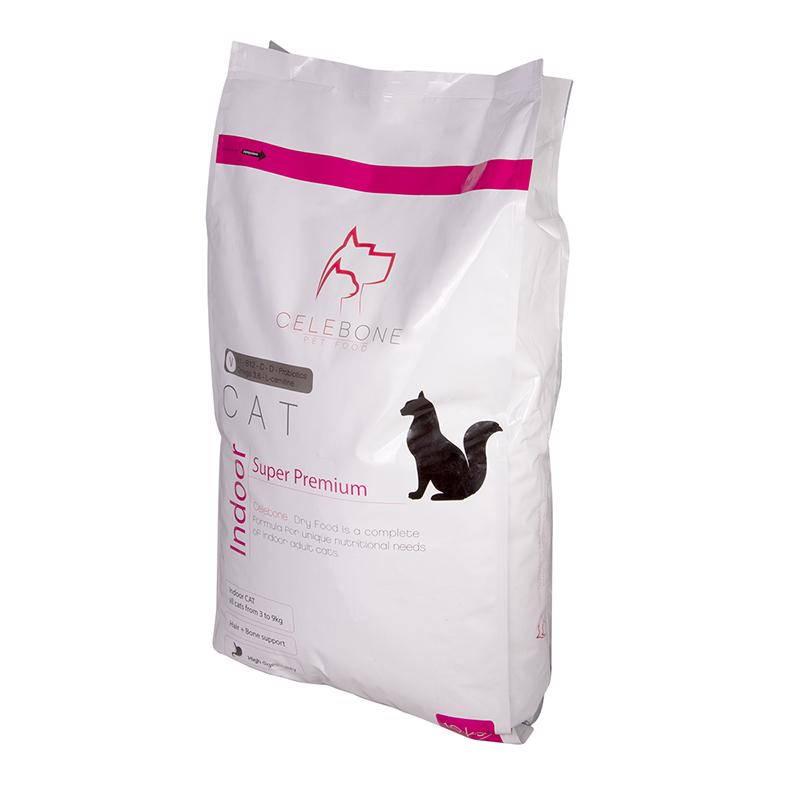 عکس جزییات بسته بندی غذای خشک گربه سلبن مدل Indoor Cat وزن 10 کیلوگرم