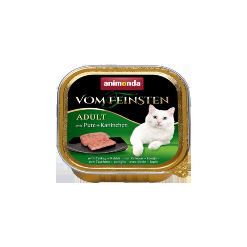 کنسرو غذای گربه با طعم بوقلمون و خرگوش آنیموندا Animonda Adult turkey & Rabbit وزن 100 گرم