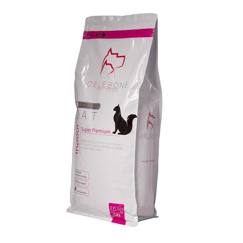 عکس بسته بندی غذای خشک گربه سلبن مدل Indoor Cat وزن 2.5 کیلوگرم