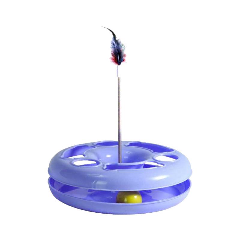 عکس اسباب بازی گربه هپی پت مدل مشا رنگ نیلی