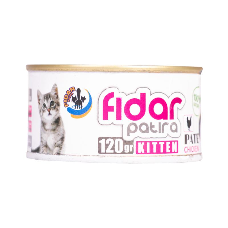 عکس کامل کنسرو غذای بچه گربه فیدار مدل Kitten Chicken Pate وزن 120 گرم