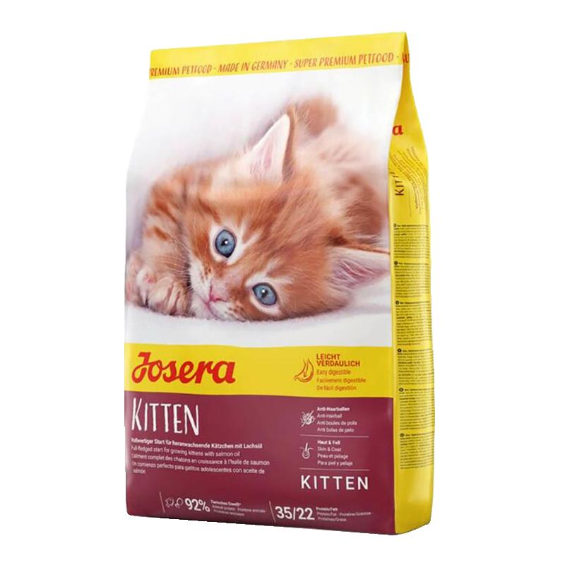 عکس بسته بندی غذای خشک گربه جوسرا مدل Kitten وزن 400 گرم