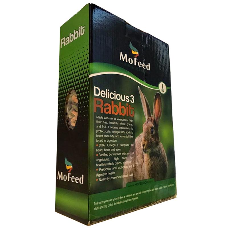 عکس جزییات بسته بندی غذای خرگوش مفید مدل Rabbit Delicious وزن 1 کیلوگرم