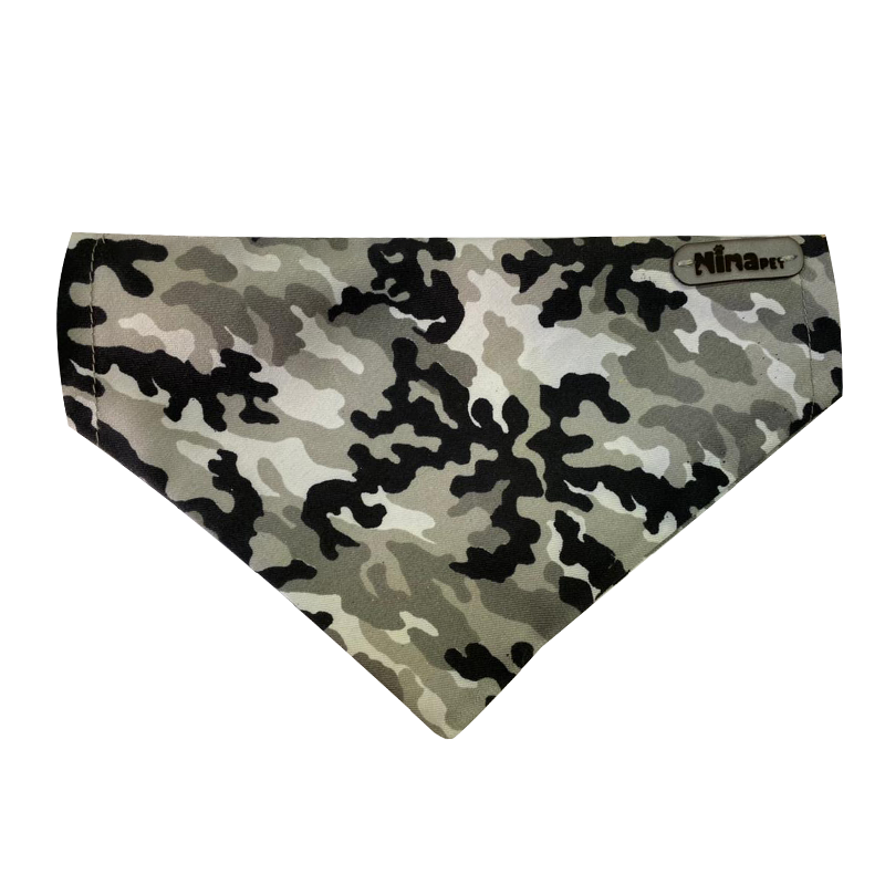 قلاده و دستمال گردن سگ نیناپت مدل طرح دار سایز کوچک ارتشی