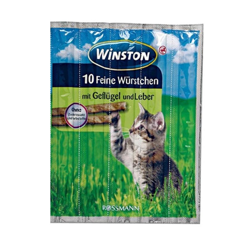 عکس بسته بندی اسنک تشویقی گربه وینستون مدل Chicken & Liver بسته 5 عددی