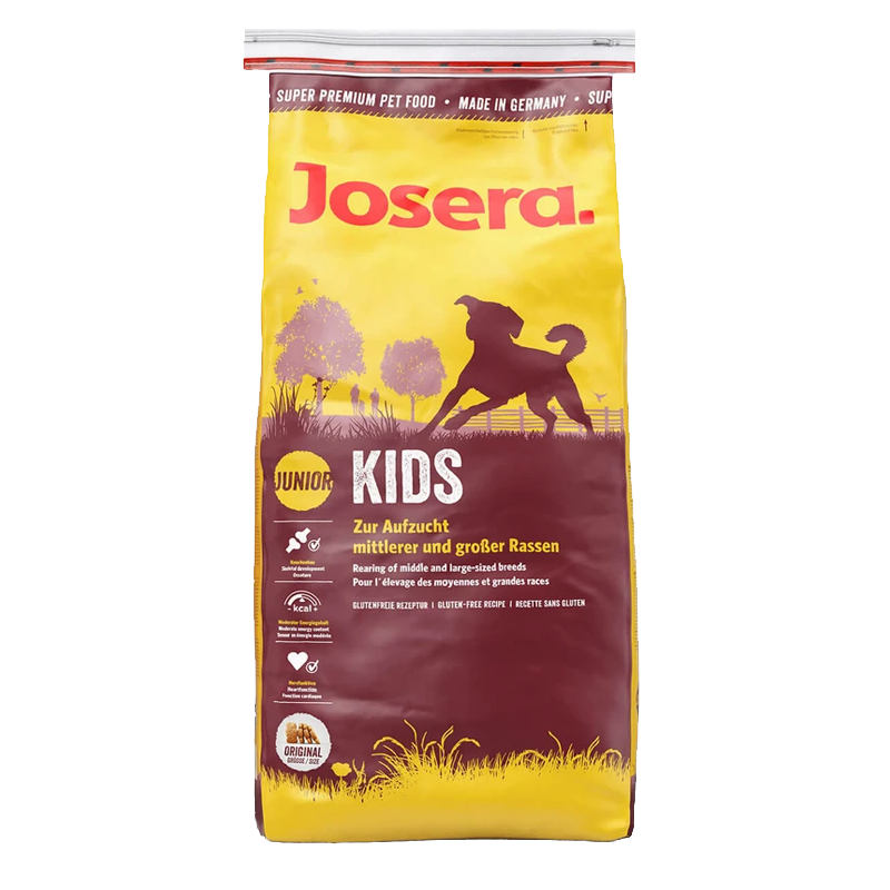 عکس بسته بندی تبلیغاتی غذای خشک سگ جوسرا مدل Kids وزن 3 کیلوگرم