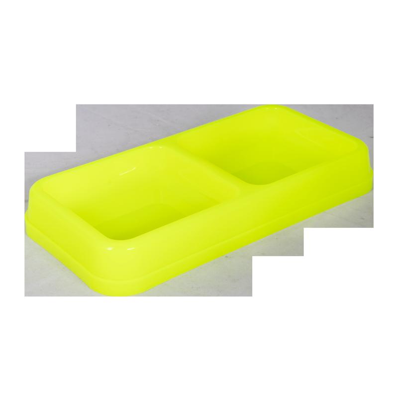 ظرف غذای دوقلو حیوانات آلوین مدل میشو رنگ زرد 1