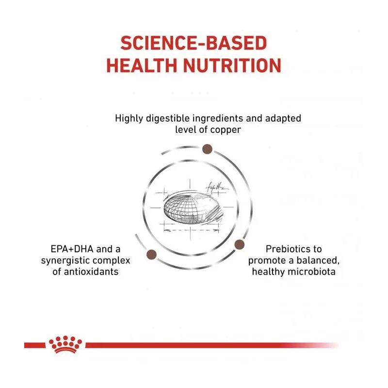 عکس جزییات غذای خشک گربه رویال کنین مدل Hepatic وزن 2 کیلوگرم
