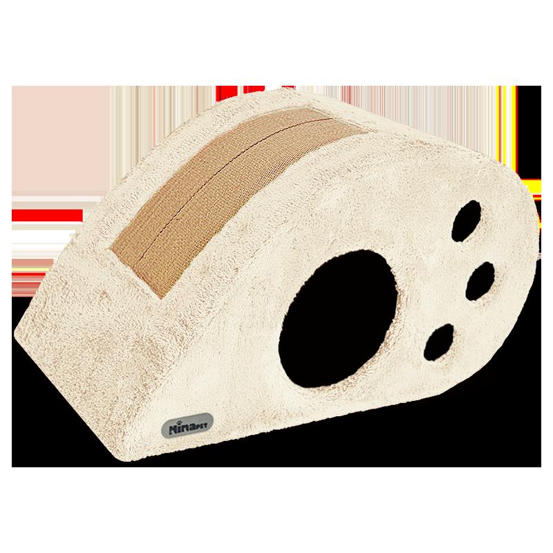 لانه گربه نیناپت مدل بادامی رنگ کرم