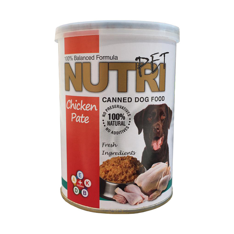 عکس کنسرو غذای سگ نوتری مدل Chicken وزن 425 گرم