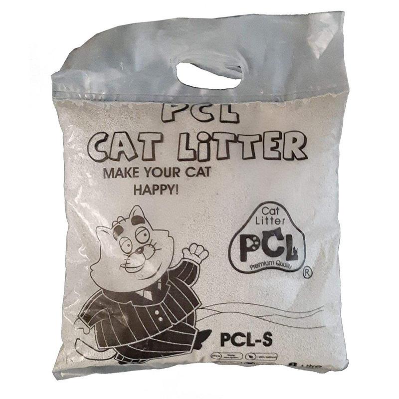 عکس بسته بندی خاک بستر گربه پی سی ال مدل PCL-S8 وزن 8 کیلوگرم