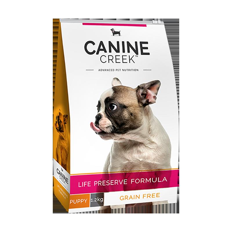 عکس روی بسته بندی غذای خشک سگ کنین کریک مدل Puppy وزن 4 کیلوگرم