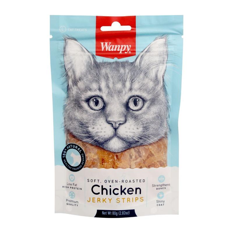 تشویقی گربه ونپی مدل Chicken Jerky Strips وزن 25 گرم